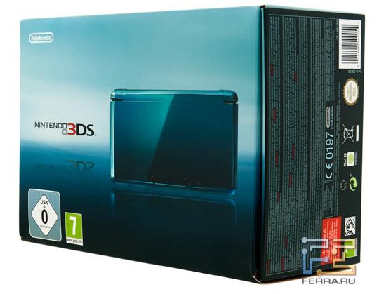 Упаковка Nintendo 3DS, вид спереди