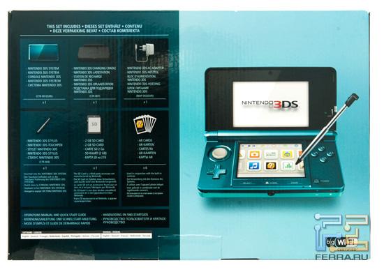 Упаковка Nintendo 3DS, вид сзади
