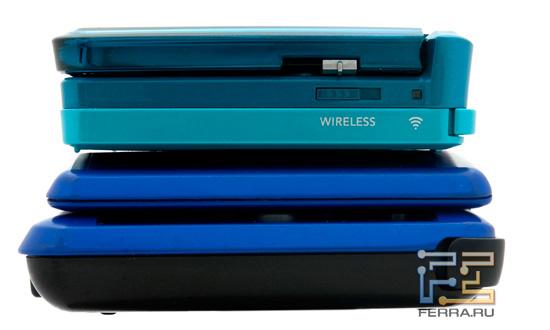 Nintendo 3DS и Nintendo DS, вид справа