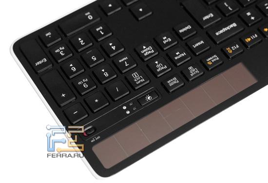 Солнечные элементы питания Logitech Wireless Solar Keyboard K750