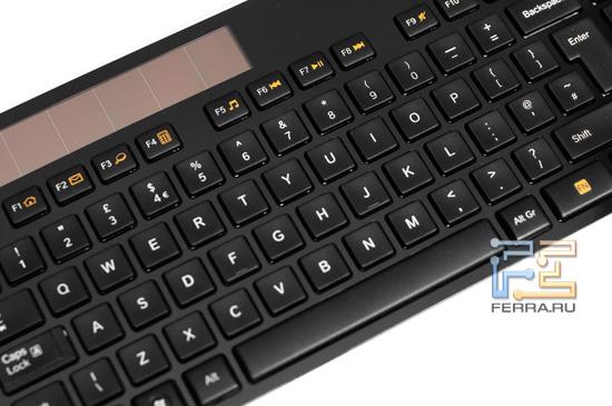 Клавиши клавиатуры Logitech Wireless Solar Keyboard K750