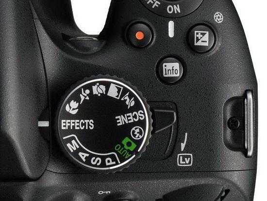 Переключатель в порядок Live view и барабан режимов съемки на Nikon D5100