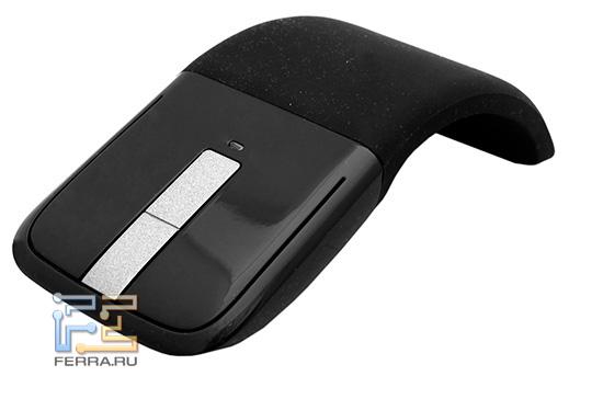 Microsoft Arc Touch Mouse в рабочем положении
