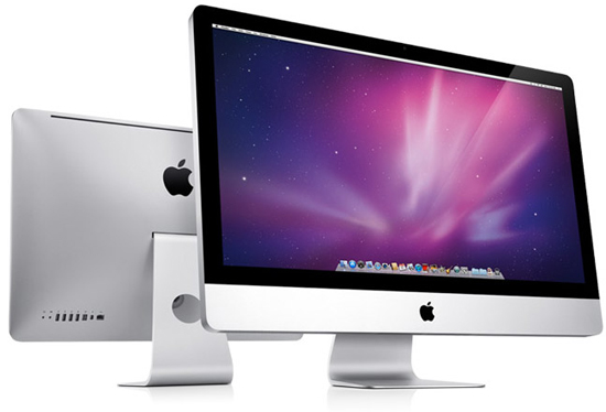 Apple iMac. Вид спереди и сзади