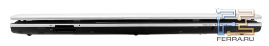 Передний торец Sony VAIO YB: карт-ридеры и светодиодные индикаторы