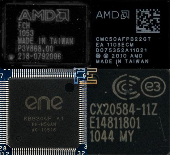 Чипы AMD, установленные в Acer Aspire One 522