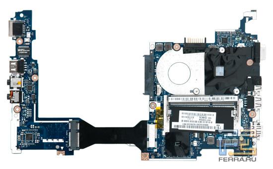 Системная плата Acer Aspire One 522. Вид снизу