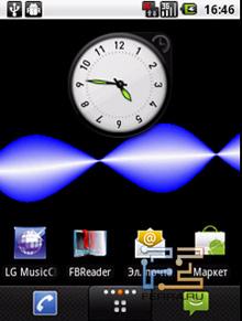 Экраны рабочего стола LG Optimus Me