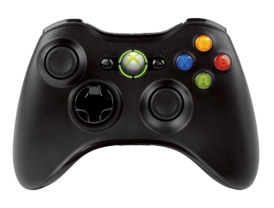Контроллер Xbox 360 - картина сверху