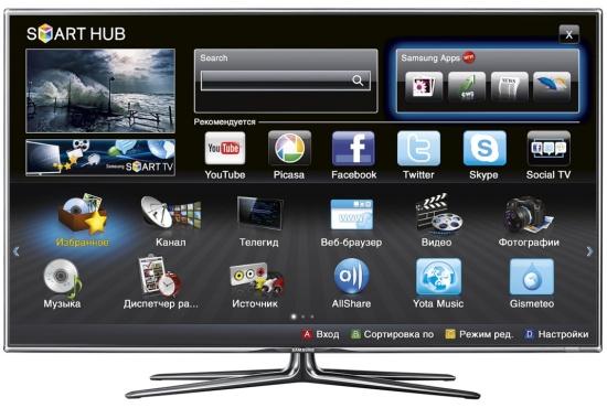 Функция SmartTV на телевизорах Samsung