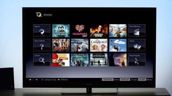Функция Bravia internet Video на телевизорах Sony