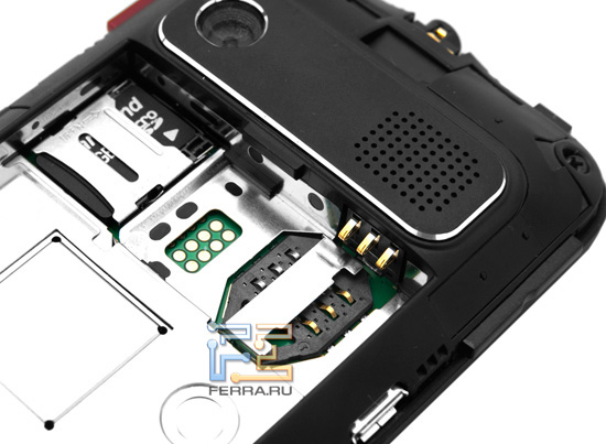 Слоты для карт SIM и microSD