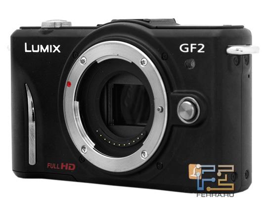 Lumix GF2: облик без объектива спереди