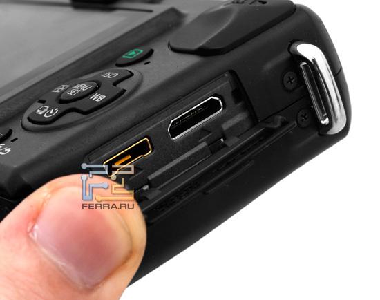 Panasonic Lumix GF2: интерфейсные разъемы