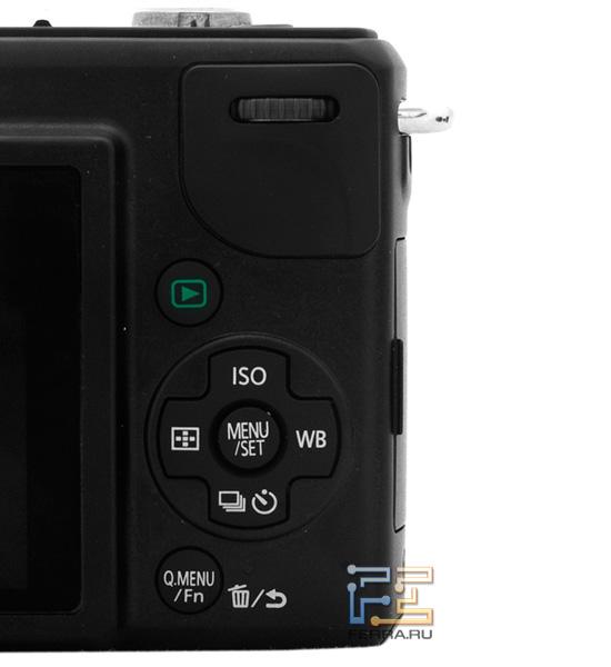 Panasonic Lumix GF2: кнопки управления камерой