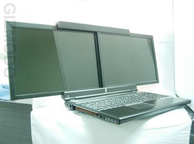 15,4-дюймовый ноутбук gScreen с двумя экранами