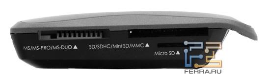 Карт-ридер Acer Iconia. Наружность спереди