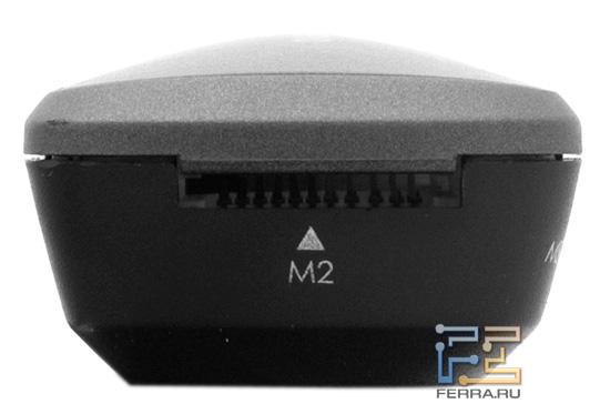 Слот для карт памяти M2 на карт-ридере Acer Iconia