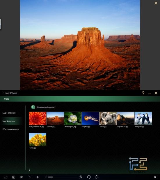 Просмотр фотографий в TouchPhoto на Acer Iconia