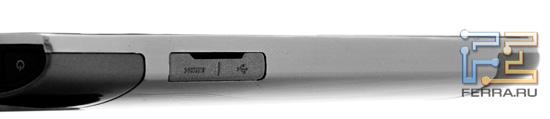 Левая грань Acer Iconia Smart