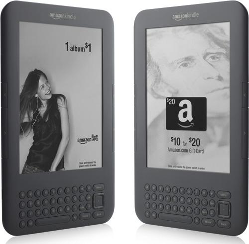 Amazon Kindle 3G с рекламой