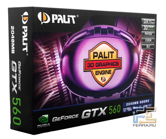 Коробка Palit GeForce GTX 560 2048 MB