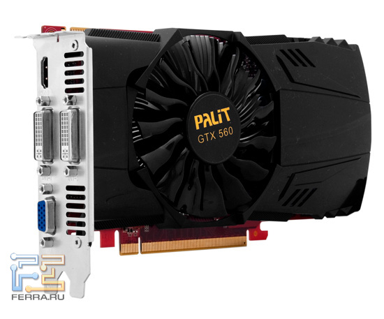 Общий вид видеокарты Palit GeForce GTX 560 2048 MB