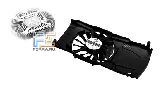 Алюминиевый радиатор и 90 мм вентилятор Palit GeForce GTX 560 2048 MB