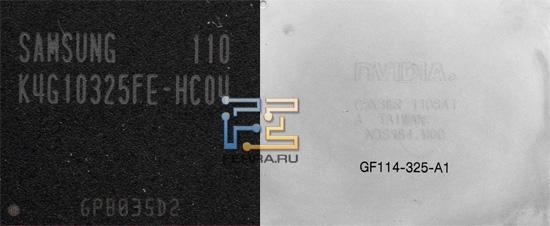 Графический процессор NVIDIA и чип памяти Samsung
