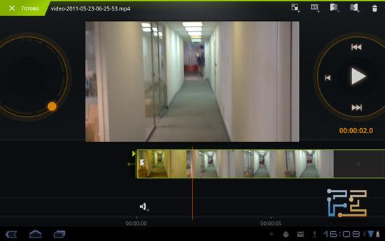 Редактор видео — Samsung Galaxy Tab 10.1