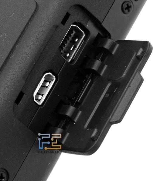 Olympus XZ-1: разъемы USB и HDMI скрыты пластиковой заглушкой