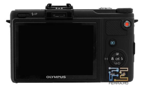 Olympus XZ-1: OLED-дисплей и задняя часть фотоаппарата