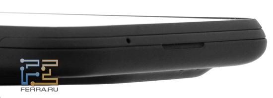 Нижний торец корпуса HTC Incredible S