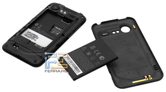 HTC Incredible S без аккумуляторной крышки