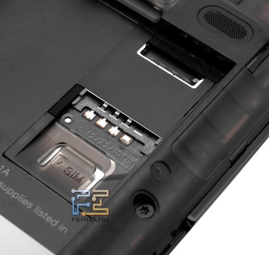 Слот для SIM-карты на HTC Incredible S