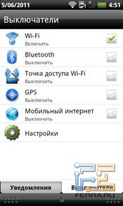 Интерфейс, софт HTC Incredible S