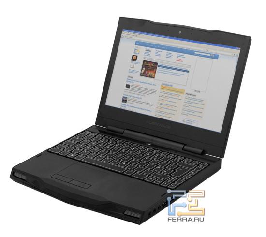 Dell Alienware M11x, вид в три четверти