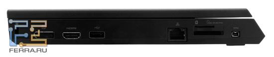 Левая грань Dell Alienware M11x
