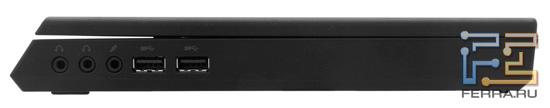 Правая грань Dell Alienware M11x — зазор между крышкой и корпусом заметен очень сильно