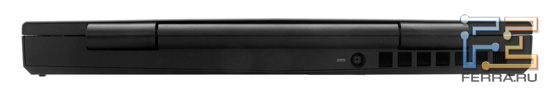 Dell Alienware M11x, вид сзади