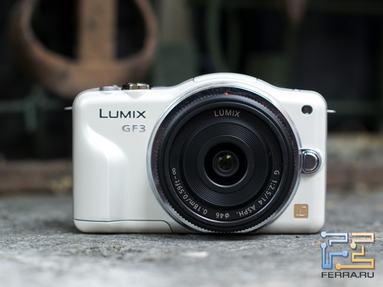Panasonic Lumix GF3 - вид спереди
