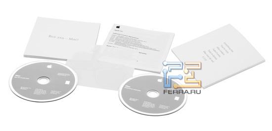 Буклеты и DVD-диски из комплекта поставки iMac 27