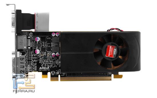 Видеокарта Radeon HD 6670, вид спереди