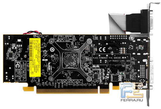 Видеокарта Radeon HD 6670, вид сзади