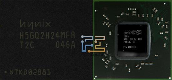 Графический процессор Turks и чип памяти Hynix