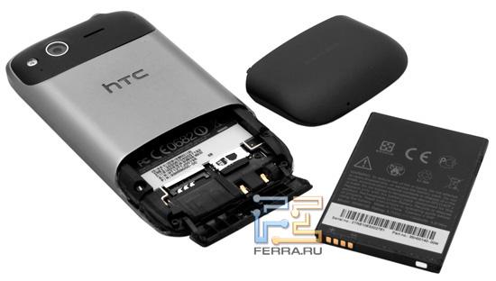 Аккумулятор, крышка и внутреннее устройство HTC Desire S