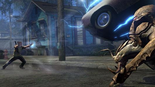 В InFamous 2 можно с легкостью заправского телекинетика швырнуть в противника автомобиль