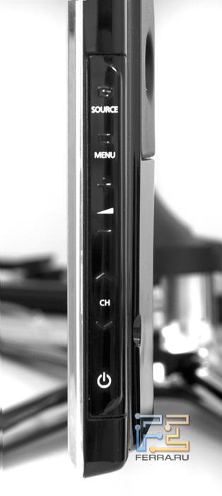 Сенсорные кнопки управления Samsung UE55D8000.  Для управления телевизором используется пульт Samsung...