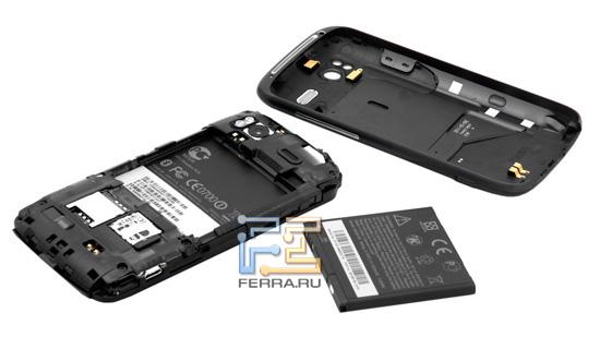 Батарейный отсек и задняя крышка HTC Sensation