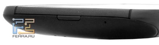 Нижняя грань HTC Sensation